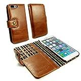 Alston Craig Custodia portafoglio di pelle genuino Vintage per Apple iPhone 7 Plus (con protettore di schermo) - Maronne