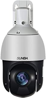 SUNBA 20X Optical Zoom PoE+ Mini Outdoor PTZ Camera, H.265/H.264 1080p High Speed ONVIF Security Dome, Auto-Focus and 328ft Night Vision (405-D20X)