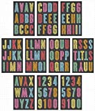 me & my BIG ideas Alphabet Letter Stickers - Scrapbook Supplies - Multi-Color - Chalk Board Theme - Large Upppercase - 10 Sheets