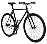 Retrospec Critical Cycles Harper Single-Speed Fixed Gear Urban Commuter Bike; 53cm, Matte Black