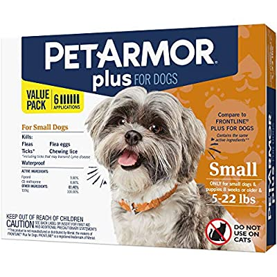 PETARMOR Plus for Dogs Flea and Tick Prevention for Dogs, Long-Lasting & Fast-Acting Topical Dog Flea Treatment, 6 Count from Sergeants - Pet Specialty Division