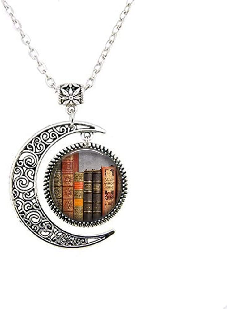 Librarian Pendant Bibliophile Classic Max 59% OFF Literature New Shipping Free Shipping Book Quote