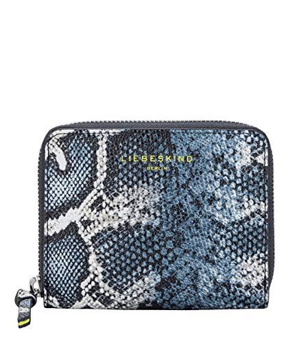 Liebeskind Berlin dames python slg - Conny Wallet Small portemonnee, blauw (Navy Blue), 2x10x13 cm