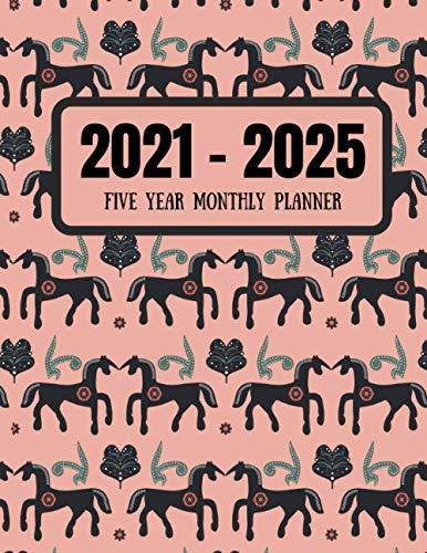 2021-2025 Five Year Monthly Planner: Diary Organizer Agenda