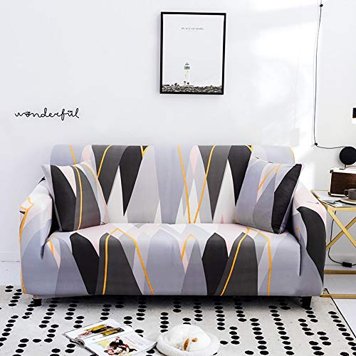 PPMP Funda de sofá elástica elástica para Sala de Estar Fundas universales para sillas Funda de sofá seccional Funda de sillón en Forma de L A26 3 plazas