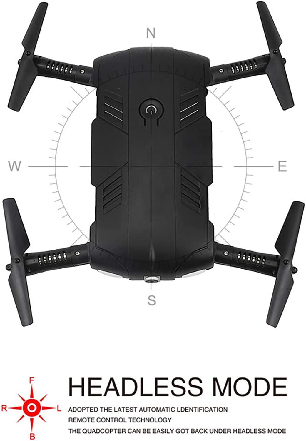 HLKYB Drone Beginners, Drone mit Camera Live Video, Portable RC Quadcopter, 2.4G 6-Axis Headless Mode Altitude One Key Return 3D Flips
