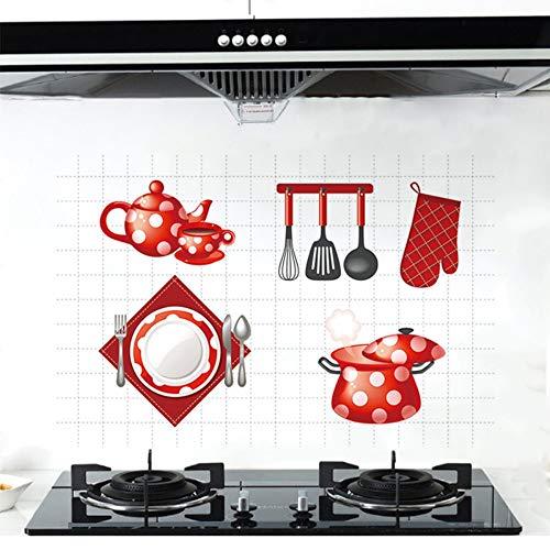 skwff Keuken Muurstickers Aanbieden Olie-Proof Stickers Aluminium folie hoge Temperatuur zelfklevende Olie-Proof Papier Tegel Stickers