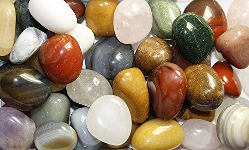 cosmoc OCTOCOLOR 02.05.03.25 Tambour, pierres, pierre, pierres polies Mélange l'Inde, 10 variétés, 1 kg