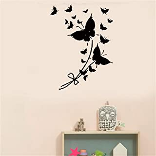 Iyrera Wall Sticker Removable Home Decor Wall Vinyl Decals Butterfly Cool Modern for Bedroominches