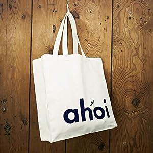 Einkaufstasche/Shopper/Schultertasche Design Ahoi – Baumwolle blau-weisser Druck