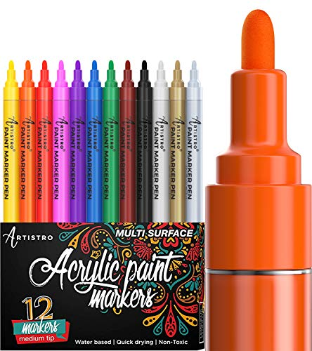 Paint Pens for Rock Painting, Ceramic, Porcelain, Glass, Wood, Fabric, Canvas....