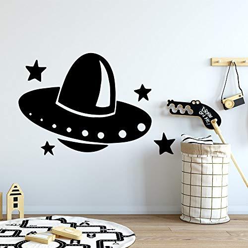 zhuziji Muskat Wandaufkleber Stickers New UFO S Material S Home Vinyl Wasserdichter Hintergrund Selbstklebende Wohnung Wandaufkleber Decal86x130cm