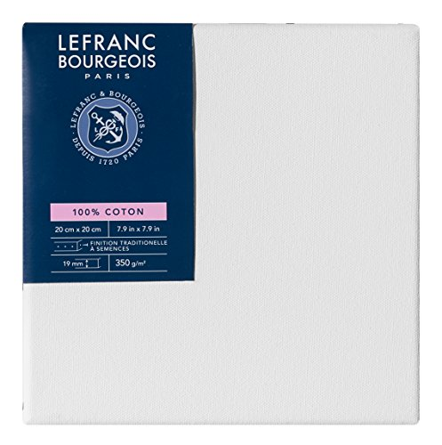 Lefranc Bourgeois - Marco de tela 100% algodón, 20 x 20 cm, grosor 1,9 cm