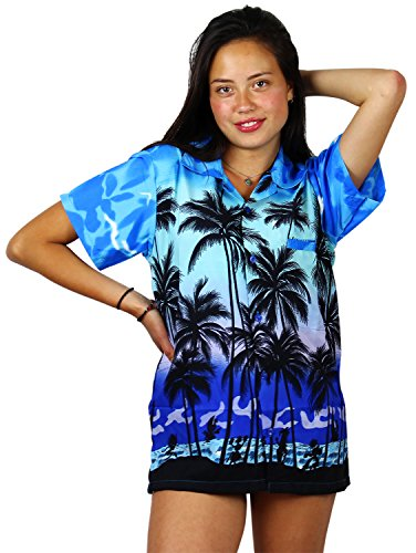 V.H.O. Funky Hawaiibluse, Hawaiihemd, Kurzarm, Beach, MONOBLAU, S