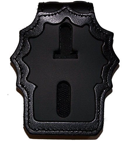 NYPD Detective Belt Clip Badge Holder with Pocket and Chain (Cutout PF225)