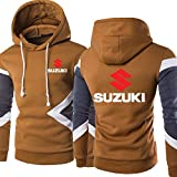 S-vision Sudadera con Capucha para Hombre Suzuki Impreso Casual con Capucha Unisex Manga Larga Pull Over Hoody Chaqueta - Regalo para Adolescentes