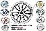 4 COPRICERCHI FIAT 500 PUNTO PANDA BRAVO COPPE RUOTA UNIVERSALI 14' 15' 16' COLORATI