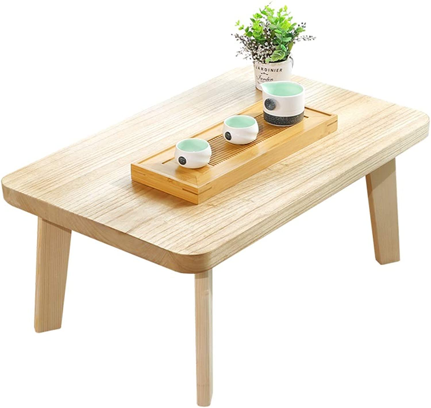 Coffee Tables Small Table Coffee Table Paulownia Wood Side Table Simple Low Table Lazy Computer Table Tatami Platform Solid Wood Table Multi-size Solid Wood Table ( color   Beige , Size   503030cm )
