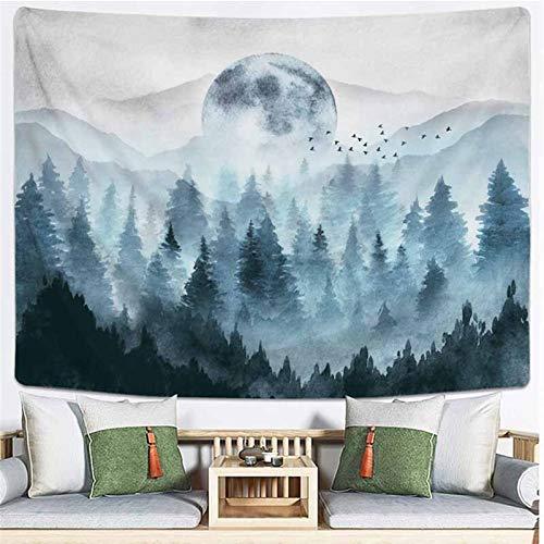 xinmeng Wandbehang Natürliche Landschaft Hippie Tapisserie Tuch Kulisse Kunst Dekor (Color : Color 1, Size : 130x150cm)