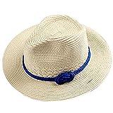 Hosaire Elegante y de Moda Sol Plegable Sombrero de ala Ancha de Paja con Arco Sombrero de Playa de Verano Sombrero para Mujer