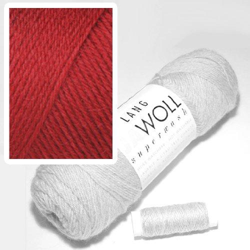 Lang Jawoll Superwash Sockenwolle Farbwahl (61 - bordeaux)