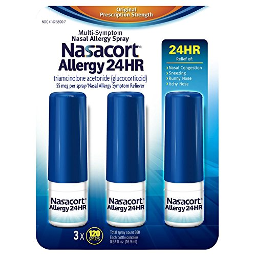 Nasacort Allergy 24hr Non-Drip Nasal Spray (120 sprays, 3 pk..)