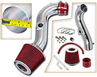 Rtunes Racing Short Ram Air Intake Kit + Filter Combo RED Compatible For 00-05 Lexus IS300