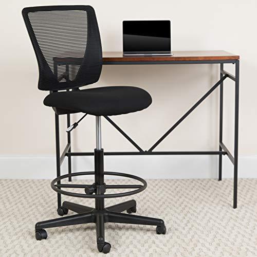 "Flash Furniture Black Mesh Draft Chair, 26""D x 26.25""W x 49.25""H, Other"