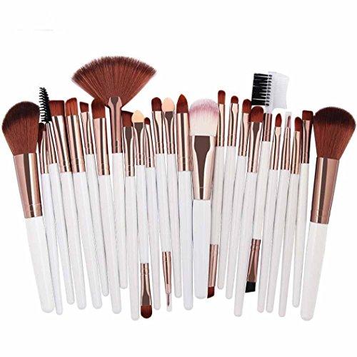 Make-up Pinsel,Binggong 25pcs Kosmetik Make-up Pinsel Rouge Lidschatten Pinsel Set Kit Pinselset Premium Pinselhaare Gesicht Pulver Pinsel (18x14x2cm, Mehrfarbig C)
