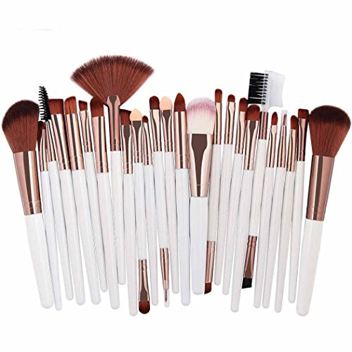 Make-up Pinsel,Binggong 25pcs Kosmetik Make-up Pinsel Rouge Lidschatten Pinsel Set Kit Pinselset...