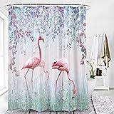 Duschvorhänge, Blumen- & Vogel 3D-Druck Polyester wasserdichter Duschvorhang, WC-Duschvorhang, Familien-Badezimmer-Trennvorhang, Badezimmertuch, 180x200cm