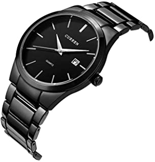 Curren men clock casual stainless steel wrist quartz watch 8106