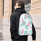 Mochila unisex de nailon para portátil, mochila informal, aislante, bolsa de almuerzo, escuela, para mujeres, hombres, niños, ancianos, picnic, playa, viajes, diseño de pájaro rosa
