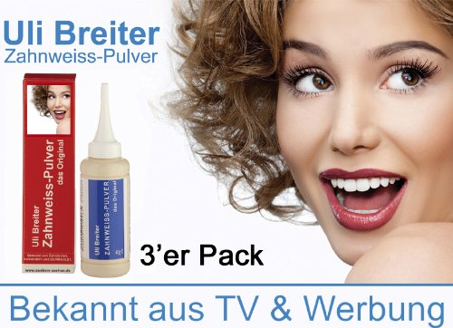 Mit natürlichen Stoffen das natürliche Zahnweiss--Uli Breiter's Zahnweiss Pulver 3#er Pack