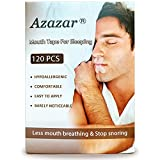 Azazar Mouth Tape for Sleeping 120 Pcs, Advanced Gentle Sleep Strips Better Nose Breathing, Less Mouth Breathing, Improved Nighttime Sleeping and Instant Snoring Relief