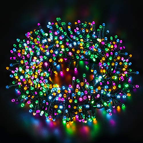 Christmas String Lights 131ft 300 LED - Indoor Outdoor Fairy Lights 8 Lighting Modes - Battery Operated Xmas Tree Garden Wedding Party Decoration - Waterproof UL Certified Twinkle Star Decor