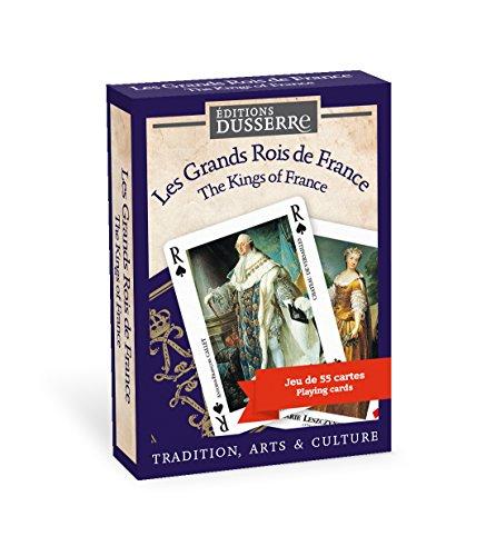 Editions Dusserre - c24 - Jeu de Cartes - 55 cartes Les Grands Rois de France