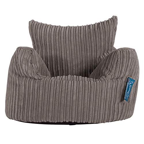 Lounge Pug®, Kindersessel Sitzsack, Sitzsack Kinder, Cord Schiefergrau