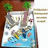 Strand-Mikrolandschaft Miniliegestuhl Strandkorb Sonnenschirm Kleine Palme Deko Accessoires, 16 Stück Miniatur-Ornament-Set für DIY Fee, Garten, Puppenhausdekoration, Einzigartiges Geschenk - 4