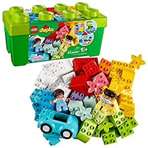 LEGO DUPLO Classic Brick Box 10913 First LEGO Set with Storage Box, Great Educational Toy for Toddlers 18 Months and up… - 51a8tR HNFL - LEGO DUPLO Classic Brick Box 10913 First LEGO Set with Storage Box, Great Educational Toy for Toddlers 18 Months and up…
