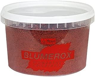 Rayt 1182-81 Blumerox Polvo para Interiores y Exteriores Cemento Blanco o Gris, Cal y Yeso. Altísimo Poder colorante. Pigmentos de Primera Calidad. Color Rojo 04, 750gr