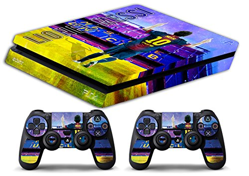Skin Ps4 SLIM - LIONEL MESSI FC BARCELLONA ULTRAS - limited edition DECAL COVER ADESIVA Playstation 4 Slim SONY BUNDLE