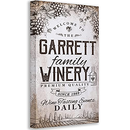 Atlanta Mall Personalized - Max 43% OFF Winery Family Large on Not Art Canvas Printed