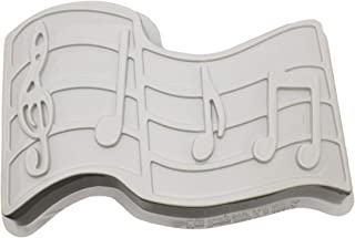 CK Products 49-5302 Plastic Musical Notes Cake Pan, White