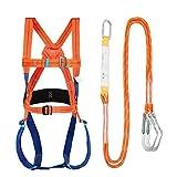 Wing Kits de arnés de Seguridad, Arnés de Seguridad Trabajo y Cuerda, arnes anticaidas Completo, Arnés de Escalada, para montañismo de Alto Nivel Espeleología de Rescate