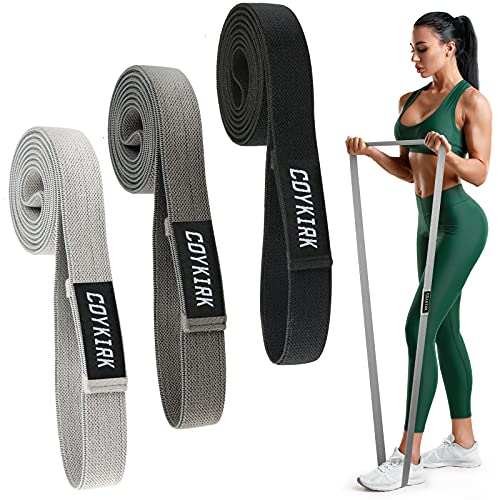 Long Resistance Bands Set for Women - Fabric Exercise Bands for Working Out, Pull up Assistance Bands, Heavy Duty Stretch Bands, Resistance Loop Bands for Training, Physical Therapy, Home Workouts