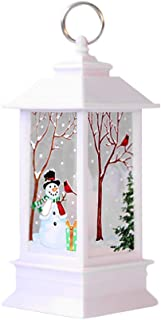 ynSIR 2019 Christmas Outdoor Lights - Christmas Decorations Lights Vintage Xmas Candle with LED Tea Light Lampion Flame Lamp Fireless Candles Lamp Holiday Hanging Ornaments Gifts Decors (G)