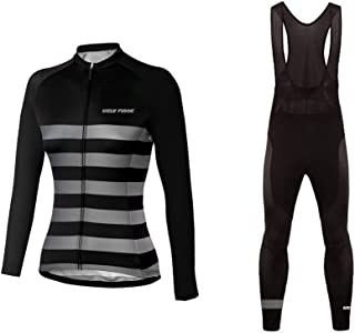 Womens Cycling Jersey Full Sleeve Winter Spring/Autumn Wear Top Bike Racing Team Suit
