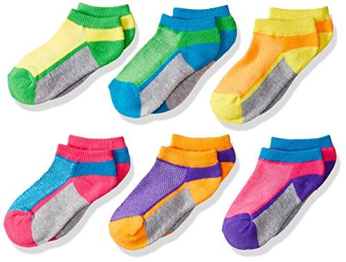 Jefferies Socks Mädchen Little Sport Mesh Upper Low Cut Socken 6 Paar Pack - mehrfarbig - X-Small