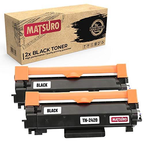 Matsuro Original | Compatibele tonercartridge vervanging voor BROTHER TN-2420 2 Zwart